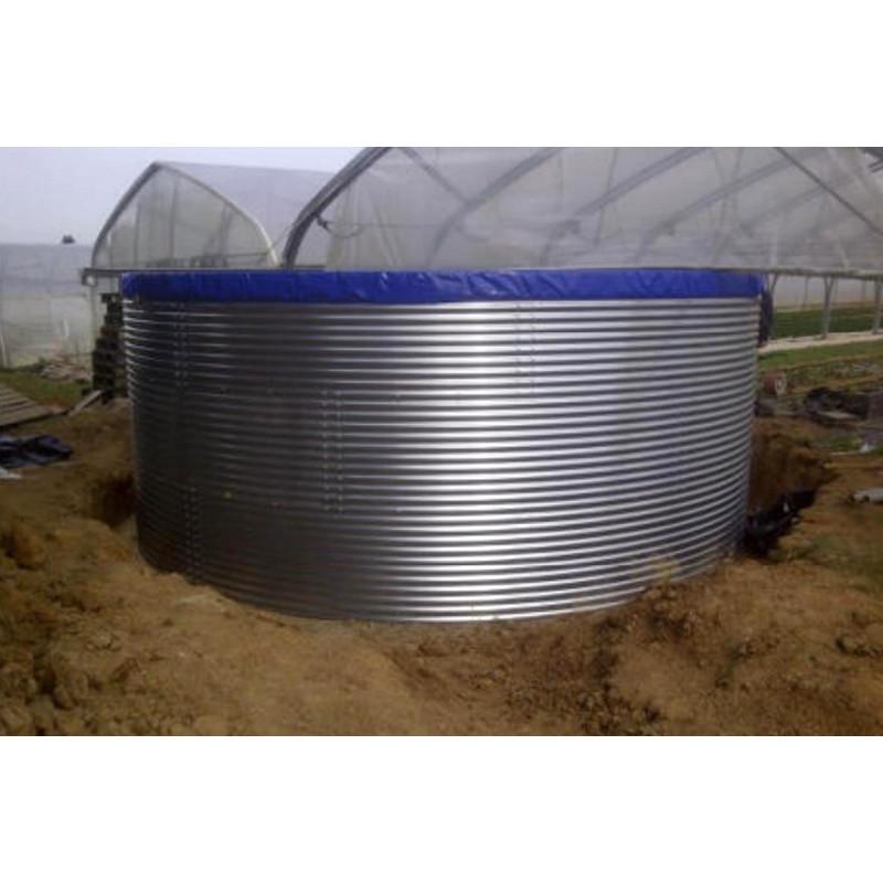 Réservoir d'eau en acier galvanisé