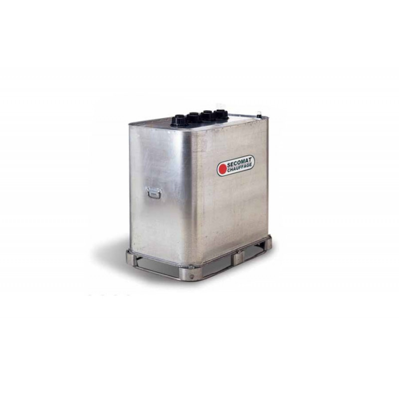Cuve mobile de stockage fuel 700l métal double paroi Longueur 1135 mm Largeur 720 mm Hauteur 1210mm