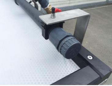 Collecteur / distributeur PVC de 0.80 m perforé avec nez de robinet clipsable