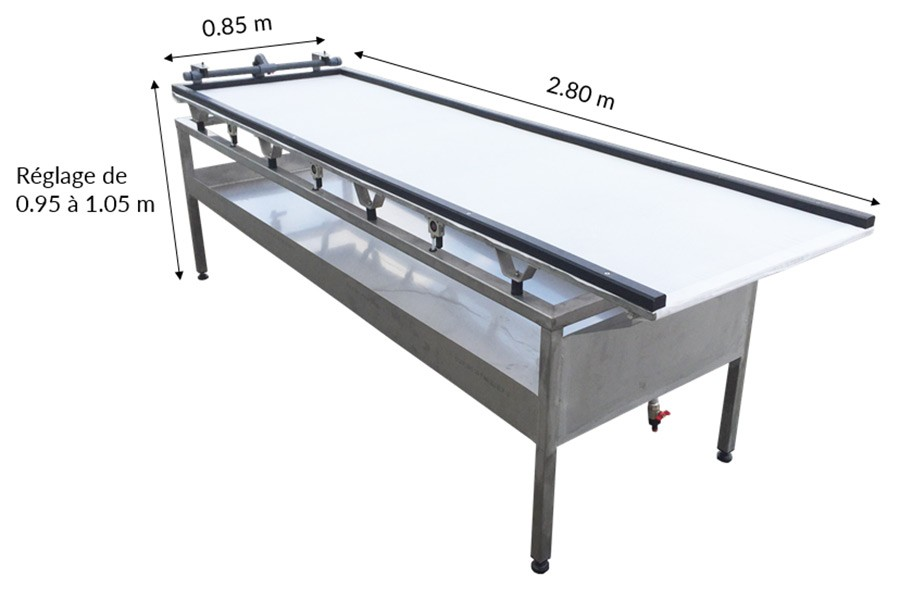 table vibrante inox alimentaire