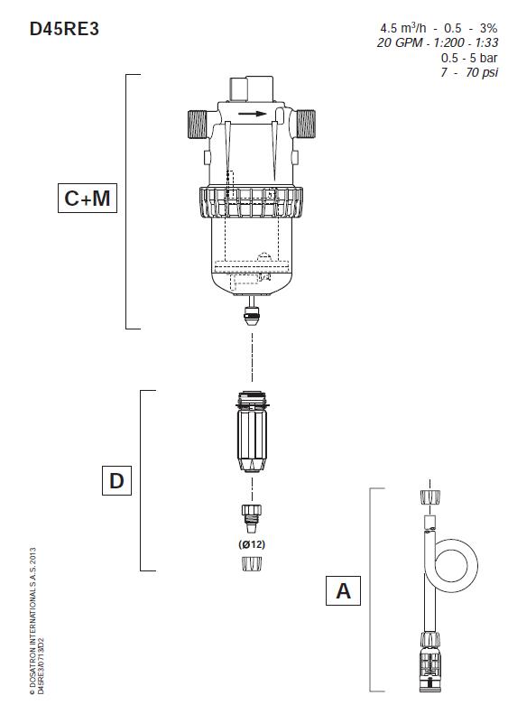 pompe doseuse Dosatron D45 RE 3