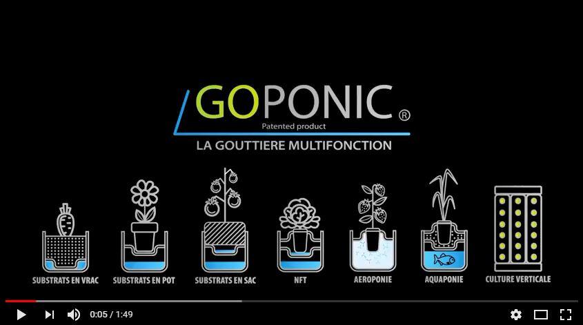 gouttière hydroponique GOPONIC