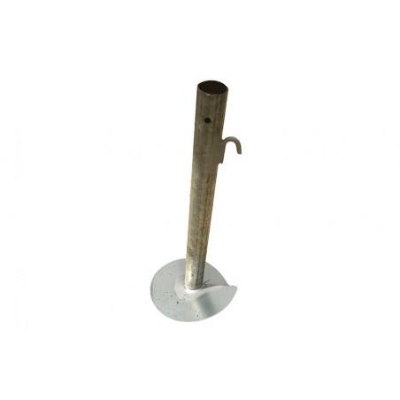Pied vrille pour poteau Ø50 mm