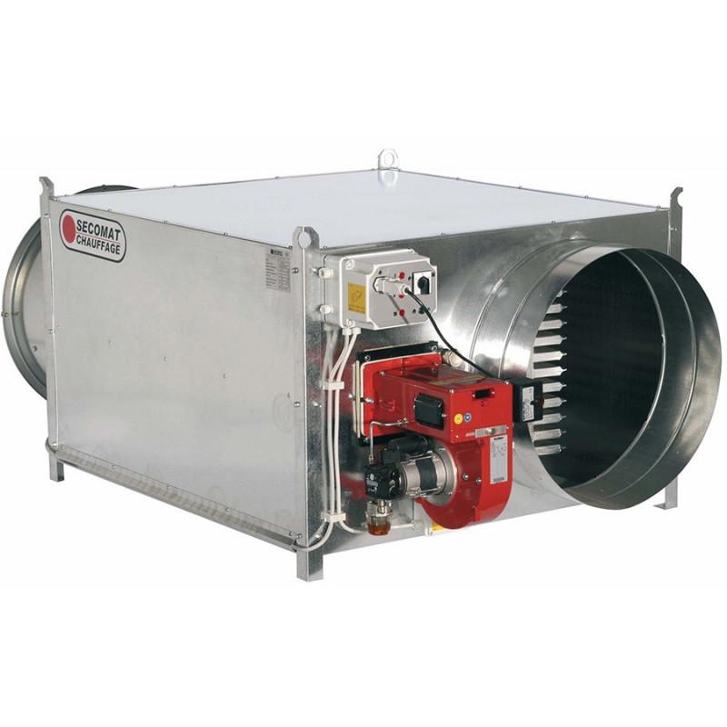 Fuel-oil furnace with helical fan