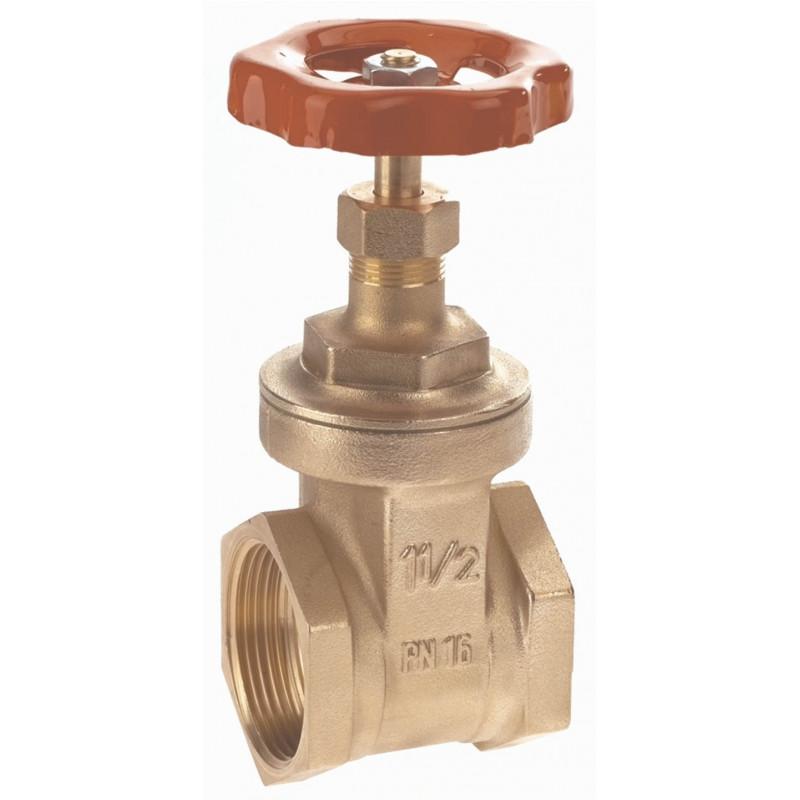 Brass body gate valve