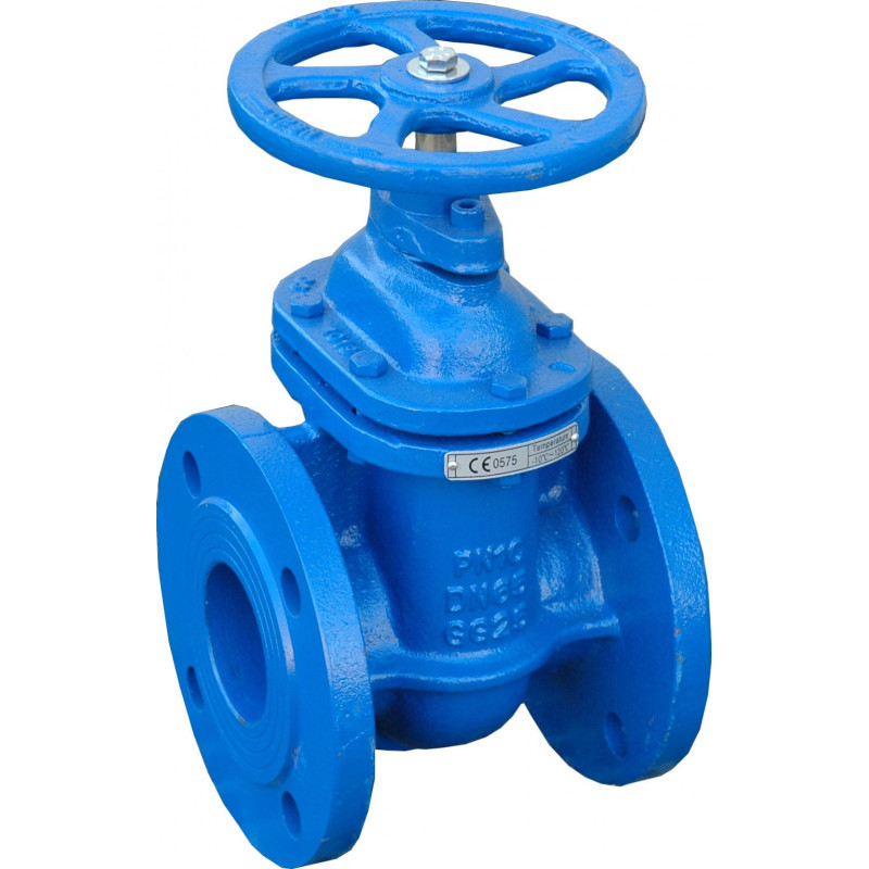 Cast iron valve with flange