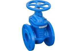 Cast iron valve with flange