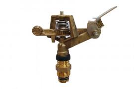 Ø 15 x 21 threaded circular brass sprinkler with Ø 4 nozzle