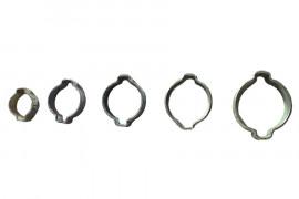 Steel ear hose clamp