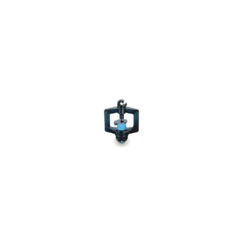 adaptateur régulateur rondo 2B noir/bleu taraudé 3/8 cannelé 10x12