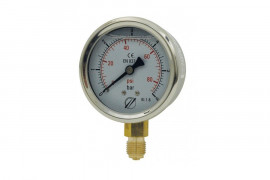 Ø 63 radial glycerine gauge
