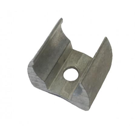 Etrier aluminium pour tube Ø19mm