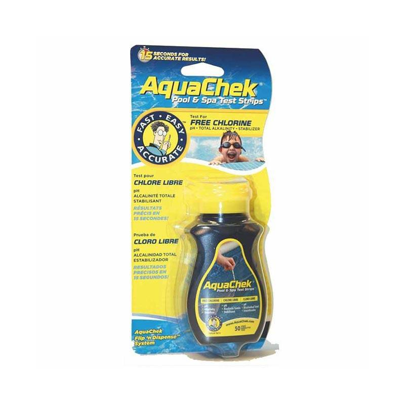 Testeur chlore Aquacheck jaune 4 en 1