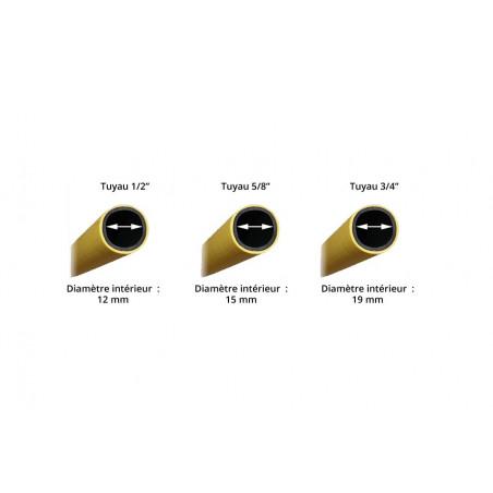 Tuyau d'arrosage jaune anti-torsion