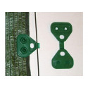 Green triangle plastic fasteners for net