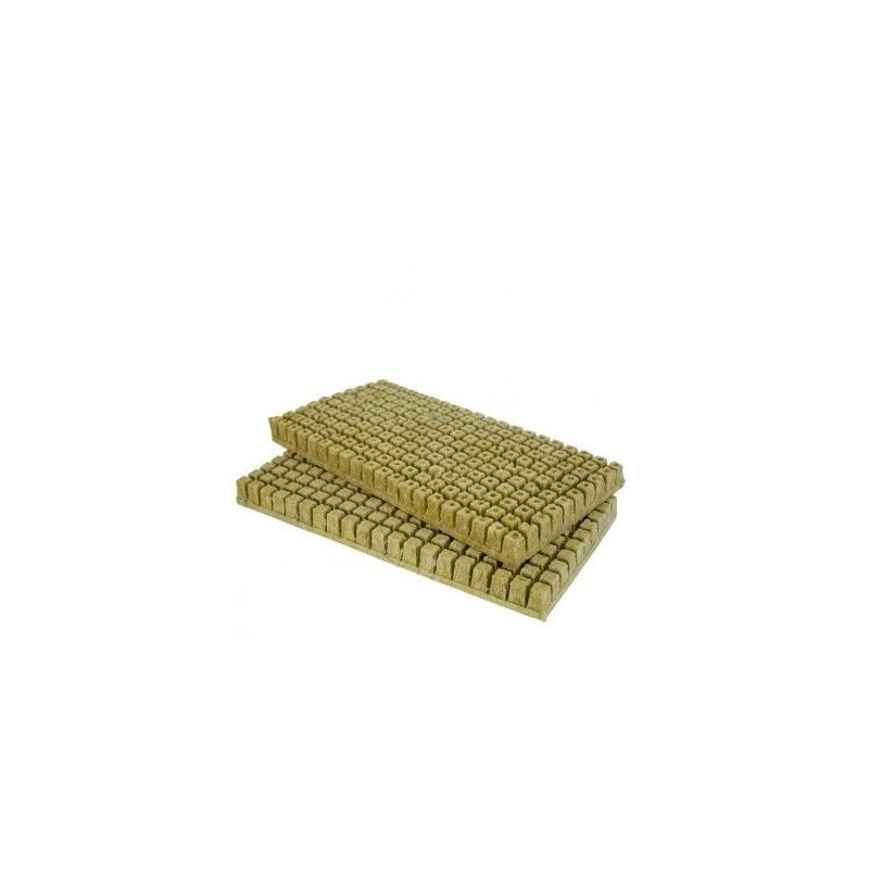Plaque de 200 bouchons de laine de Roche - Carton de 30 plaques