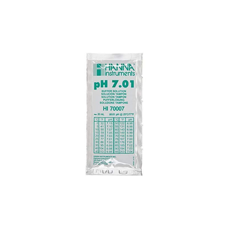 Solution tampon pH 7,01, 25 sachets de 20 mL