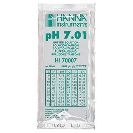 Solution tampon pH 7,01, 25 sachets de 20 mL