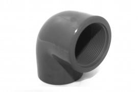 Coude PVC PR 90° taraudé FF Ø 1' 1/2