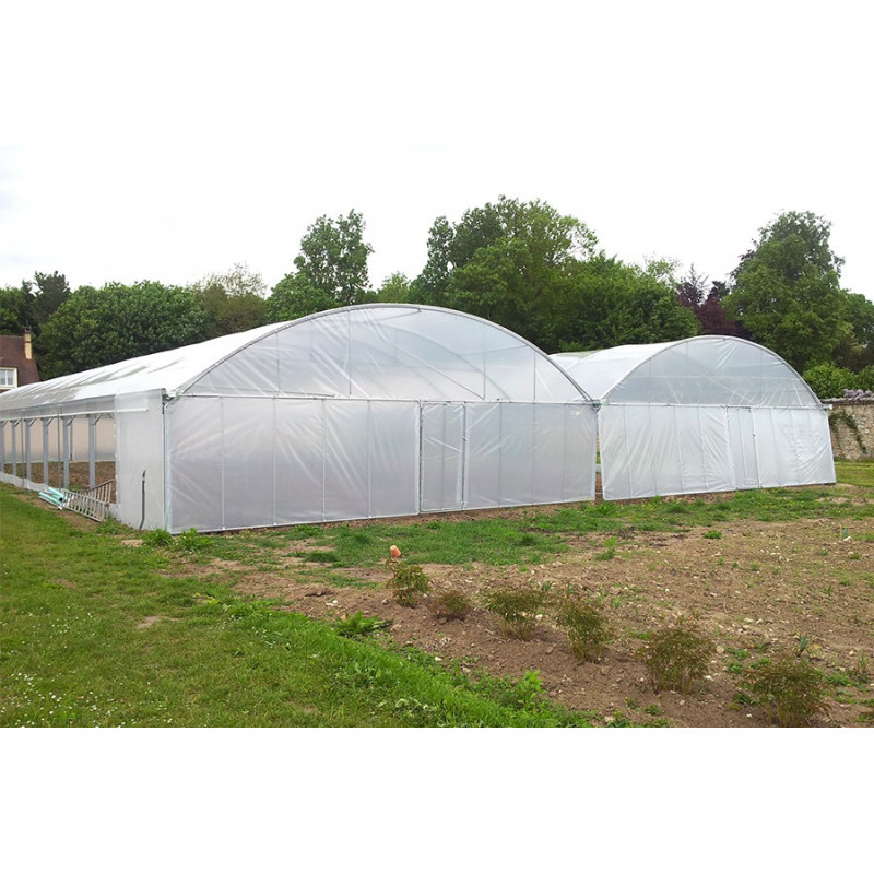 "9.60 m wide ""Optimum"" bi-span greenhouse"