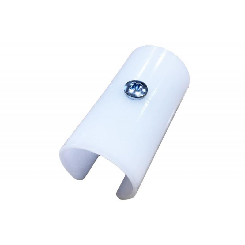 Lot de 8 clips plastiques blanc Ø32
