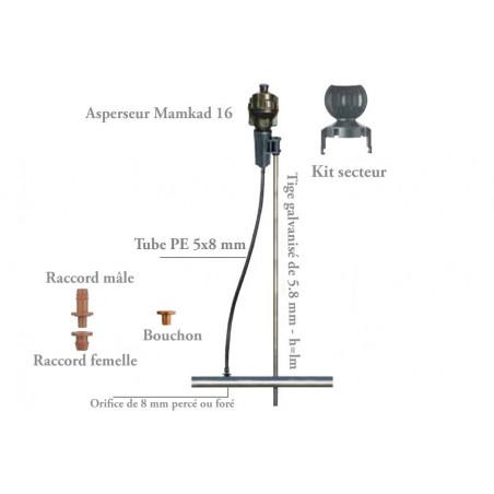 Déflecteur 180° pour Arroseur Mamkad 16