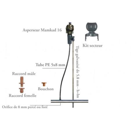 Piquet métal Ø8 mm lg1,20 m pour arroseur