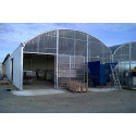 8 m wide potting shelter