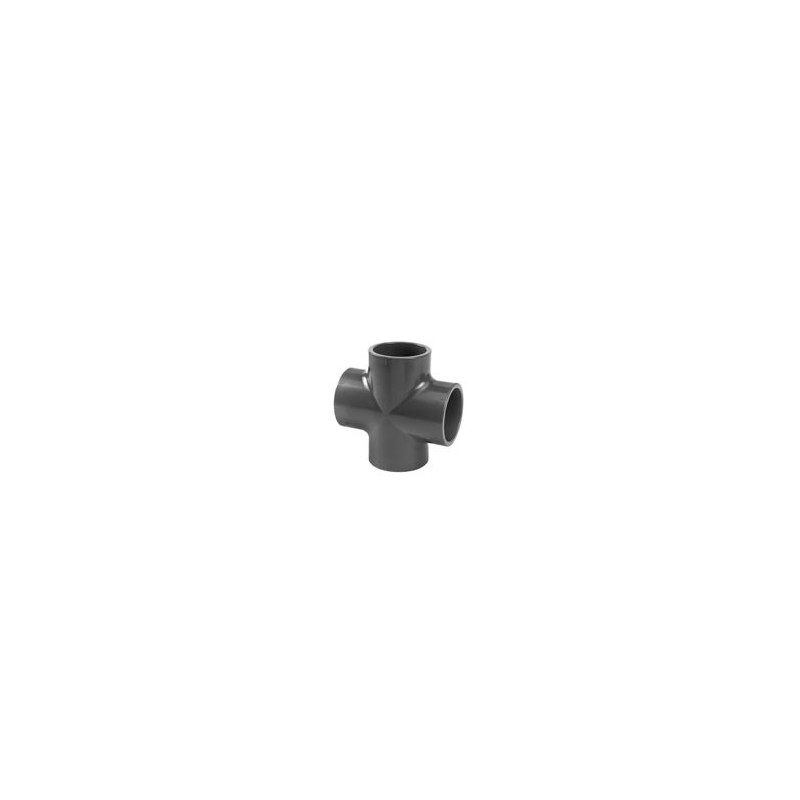 Equal 90° pressure PVC cross