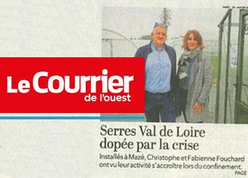 Serres Val de Loire en couverture du Courrier de l'ouest