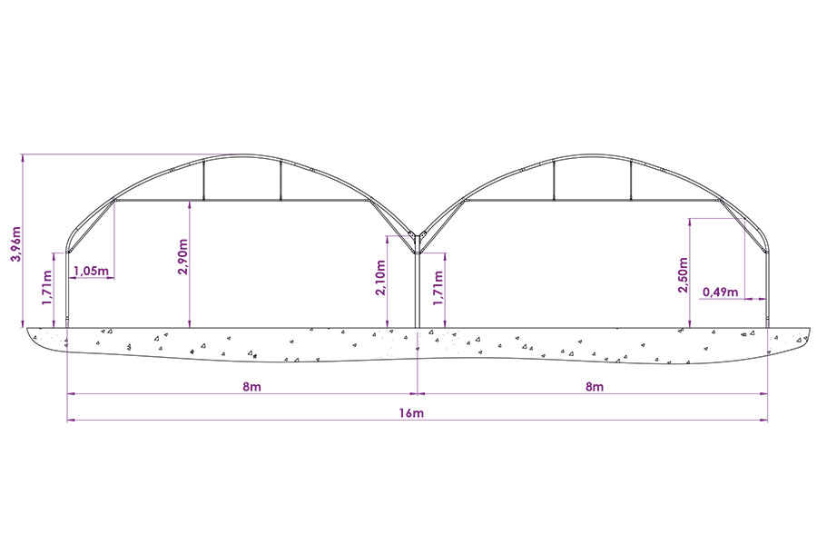 Schéma Bi-tunnel 8m